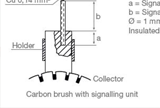 Carbon Brush with signalling device